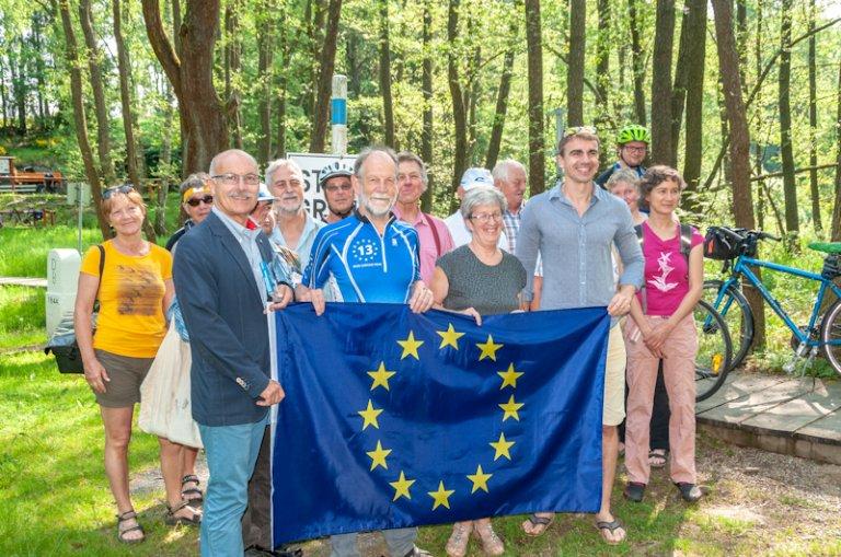 Erster Tourstart am Dreiländereck